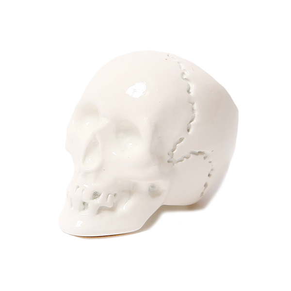 BIG SKULL RING - WHITE COATING