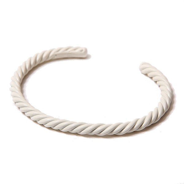 TWIST BANGLE - WHITE COATING