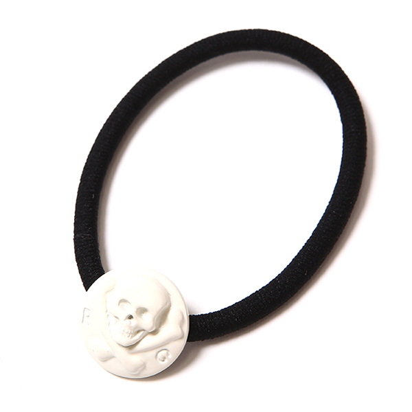 SKULL CONCHO HAIR GUM LARGE - WHITE COATING