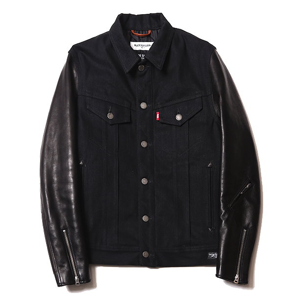 RIGID TYPE-1 DENIM JACKET - HORSE HIDE SLEEVE