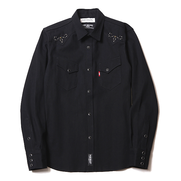 RIGID DENIM SHIRT - STUDS CUSTOMIZED
