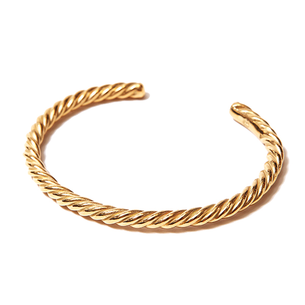TWIST BANGLE - GOLD COATING