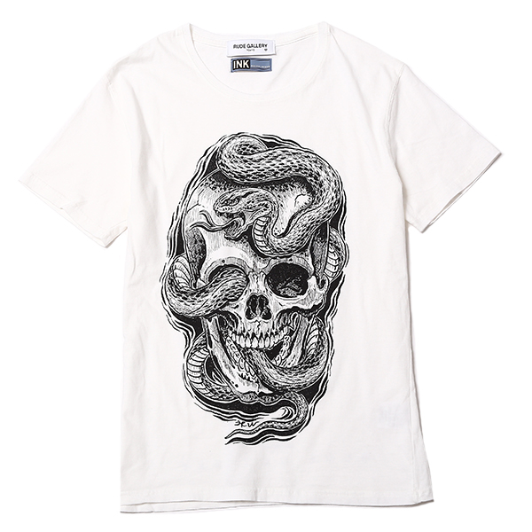 MAGICAL DESIGNxRUDE GALLERY-T <SKULL & SNAKE>