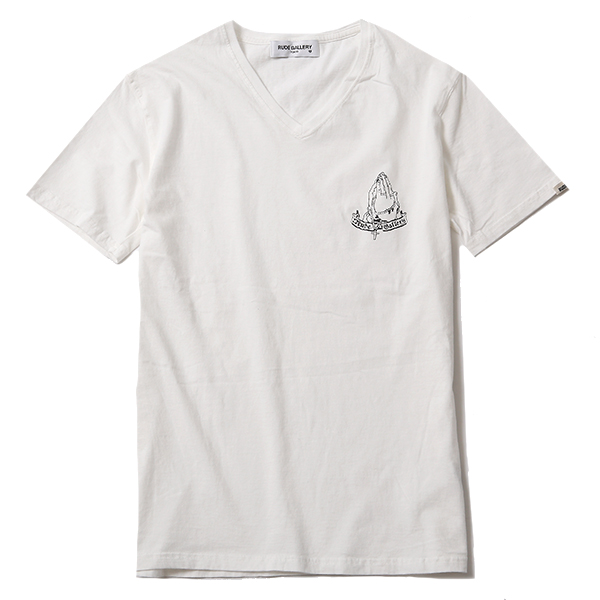 PRAYING HANDS CRACKER V NECK TEE
