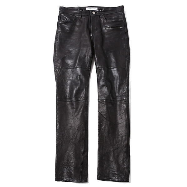 LEATHER PANTS - ONE WASH