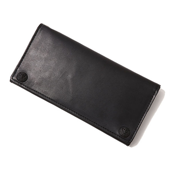 LEATHER WALLET - BLACK CONCHO