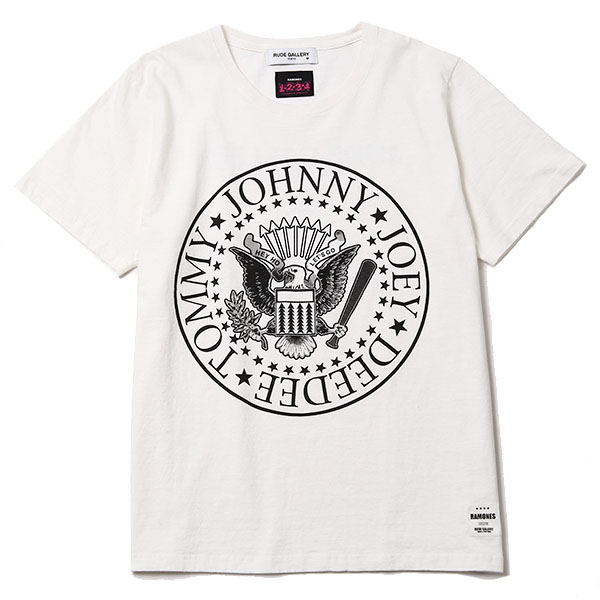 RAMONES MEETS RUDE GALLERY TEE - BIG SILHOUETTE