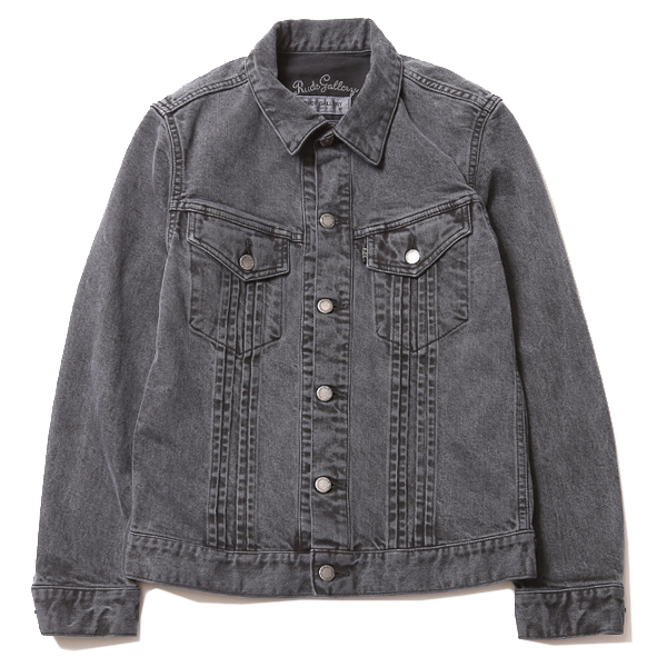 TUCK STRETCH DENIM JACKET - PIGMENT DYE