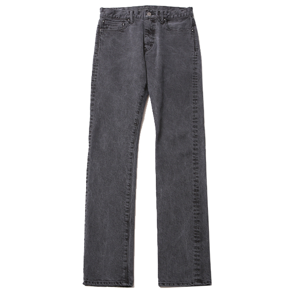TUCK STRETCH DENIM PANTS - PIGMENT DYE