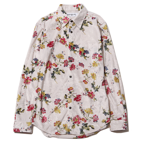 VELOUR SHIRT - FLOWER