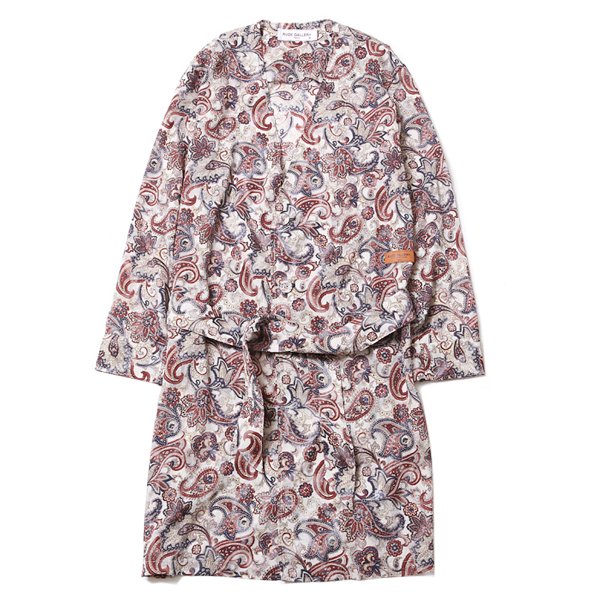 NO COLLAR ROBE - PAISLEY - LADIES