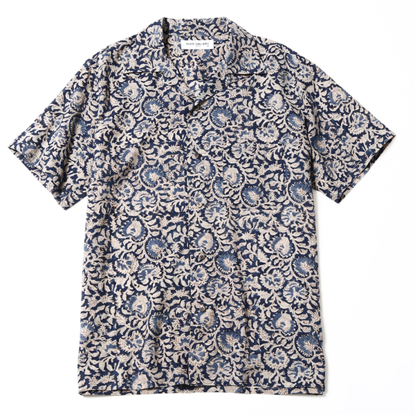 OPEN COLLAR SHIRT-FLOWER