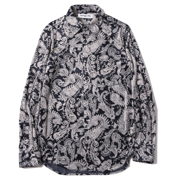 VELOUR SHIRT - PAISLEY