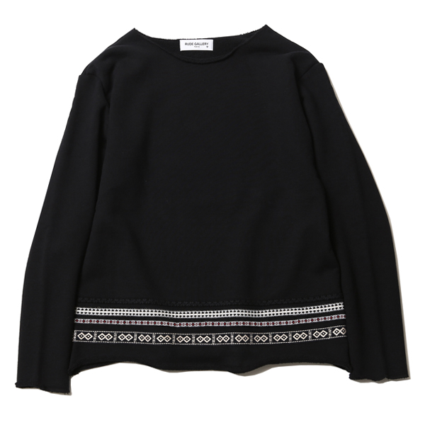 BRAID CREW NECK L/S