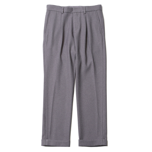 TUCK TROUSERS - TWILL