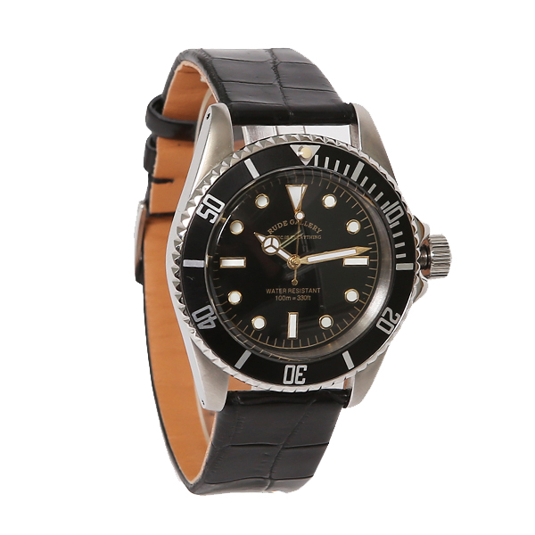 GOOD OLD DIVER WATCH LUXES - CROCO LEATHER