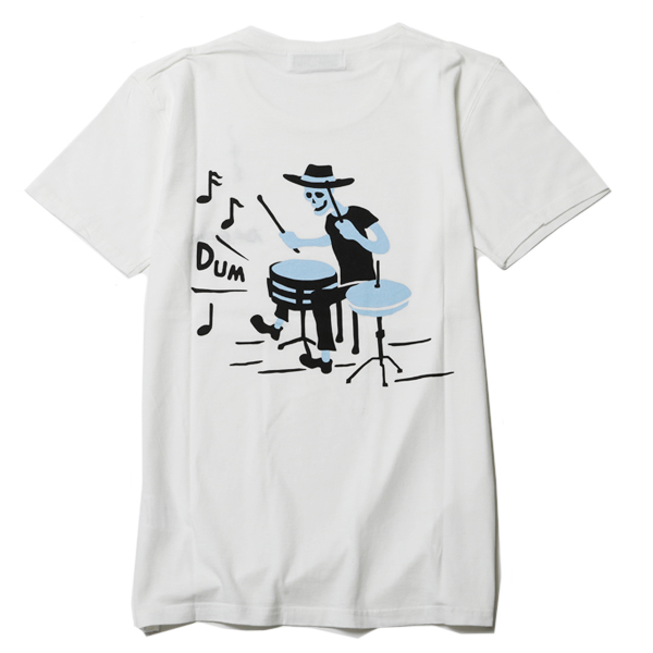 DEADLY DANCE PARTY CREW NECK TEE – DRUM<LIMITED>