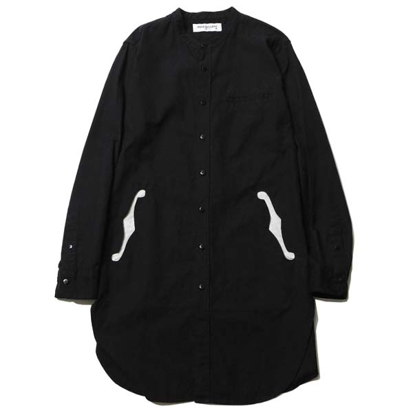 BAND COLLAR F HOLE LONG SHIRT - PAISLEY