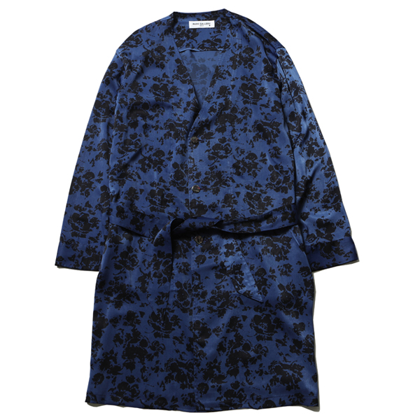 NO COLLAR ROBE - FLOWER