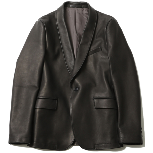 SHAWL COLLAR LEATHER JACKET