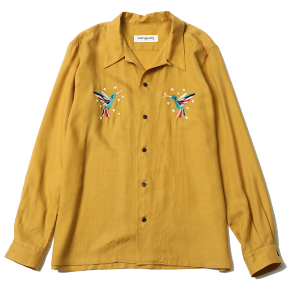 HUMMINGBIRD OPEN COLLAR L/S SHIRT