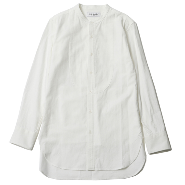 TASTY BAND COLLAR LONG SHIRT