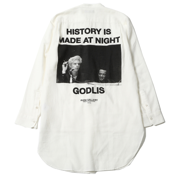 HISTORY IS MADE AT NIGHT NO COLLAR SHIRT