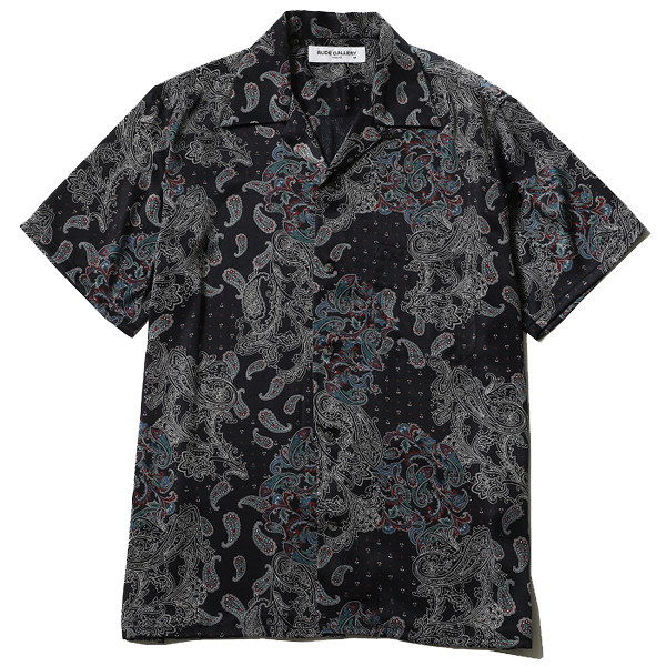 PAISLEY OPEN COLLAR SHIRT