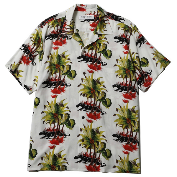 "BLACK PANTHER CAFE ALOHA SHIRT "" REMASTER """