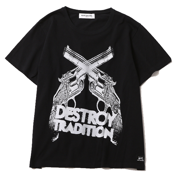 DESTROY TRADITION HAND GUN BIG SILHOUTTE TEE