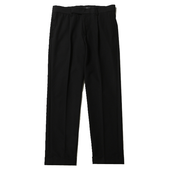 EMBROIDERED TUCK TROUSERS