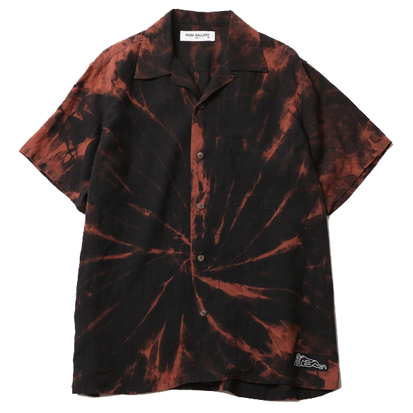 TIE-DYE OPEN COLLAR SHIRT