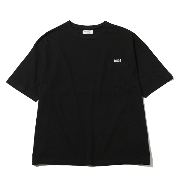 RUDE EMBROIDERED BIG SILHOUTTE PKT TEE