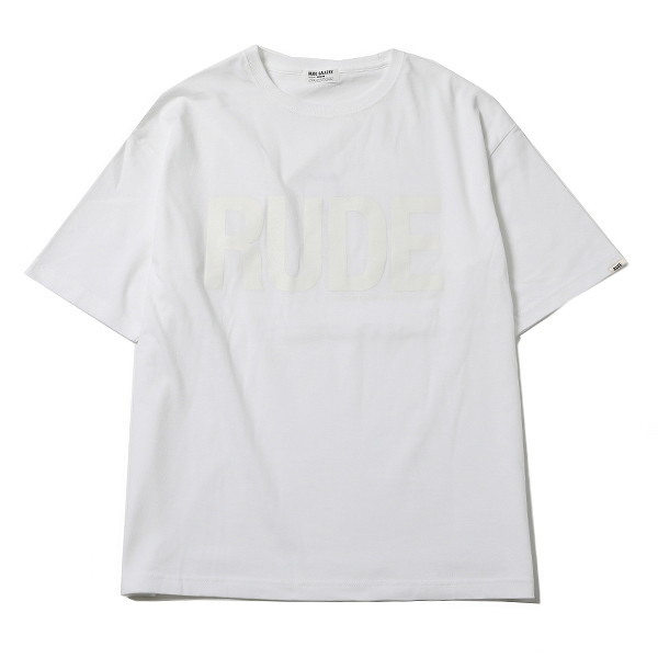RUDE BIG SILHOUETTE TEE - CLEAR