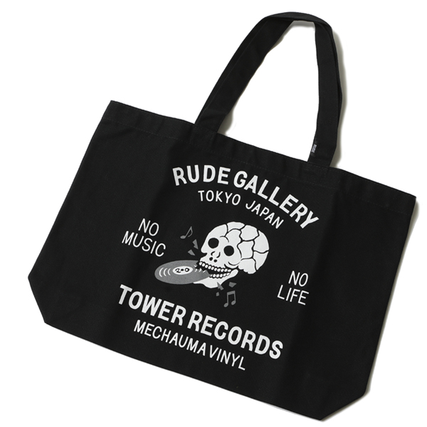 RUDE GALLERY × TOWER RECORDS TOTE BAG