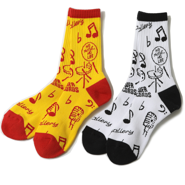 RUDE GALLERY × TOWER RECORDS SOCKS