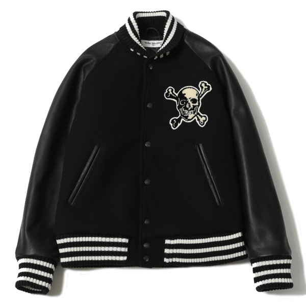 "SKULL&ARCH LEATHER STADIUM JACKET ""REMASTER"""