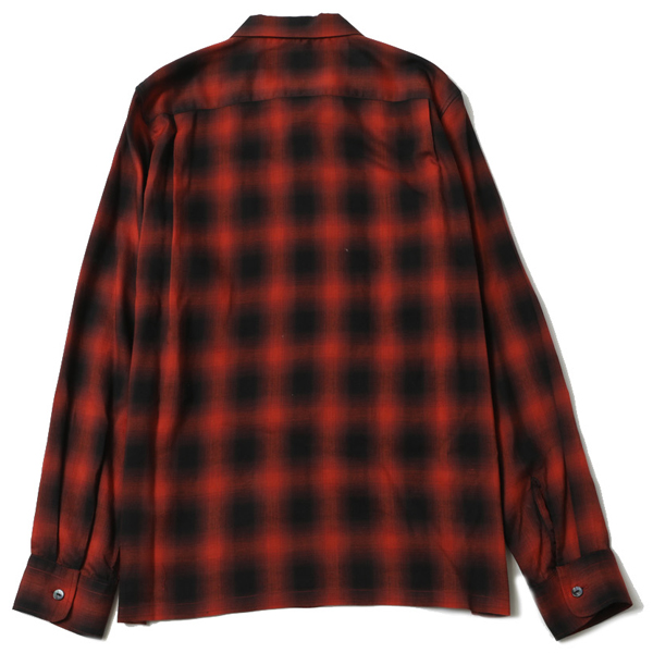 OMBRE CHECK OPEN COLLAR L/S SHIRT