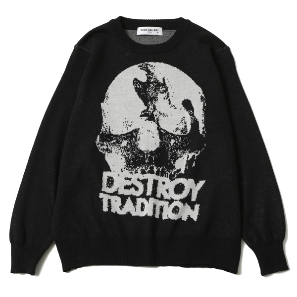 DESTROY TRADITION SKULL SWEATER