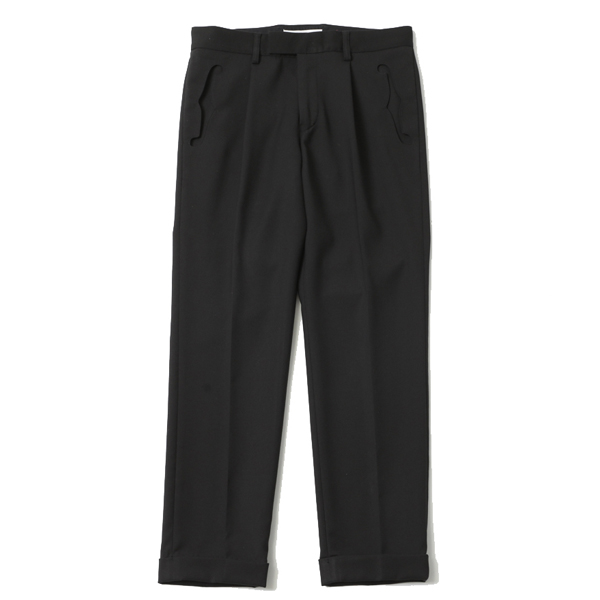 F HOLE TUCK TROUSERS