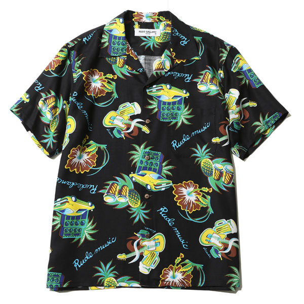 "RUDE MUSIC ALOHA SHIRT ""REMASTER"""