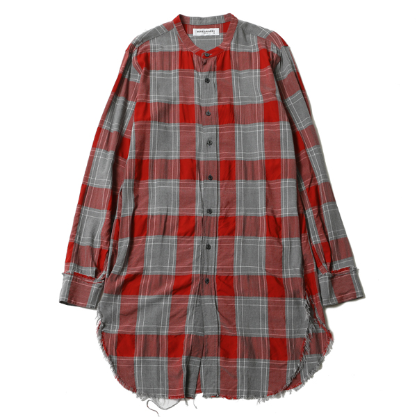 INSIDEOUT CHECK LONG SHIRT