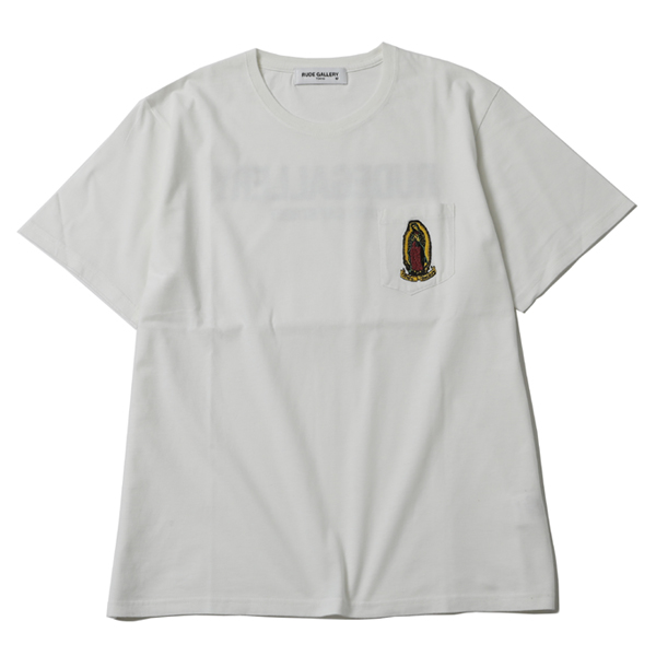 MARIA EMBROIDERED PKT TEE