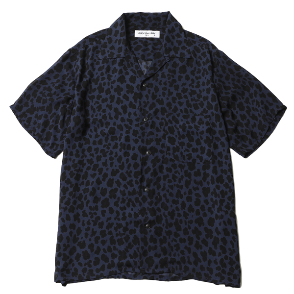 LEOPARD OPEN COLLAR SHIRT