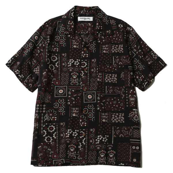 FLOWER PAISLEY OPEN COLLAR SHIRT