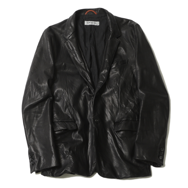 """ SMUG "" LEATHER LAPELED JACKET"