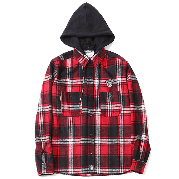 BRILLIANT CHECK HOOD SHIRTS