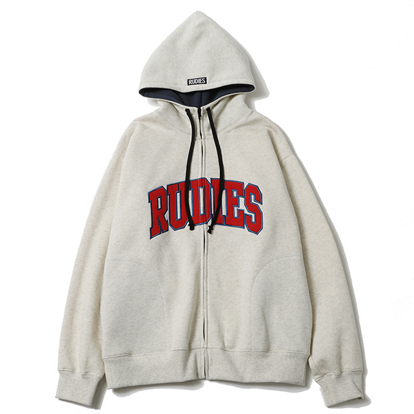 COLLEGE HIGHNECK ZIPHOOD SWEAT