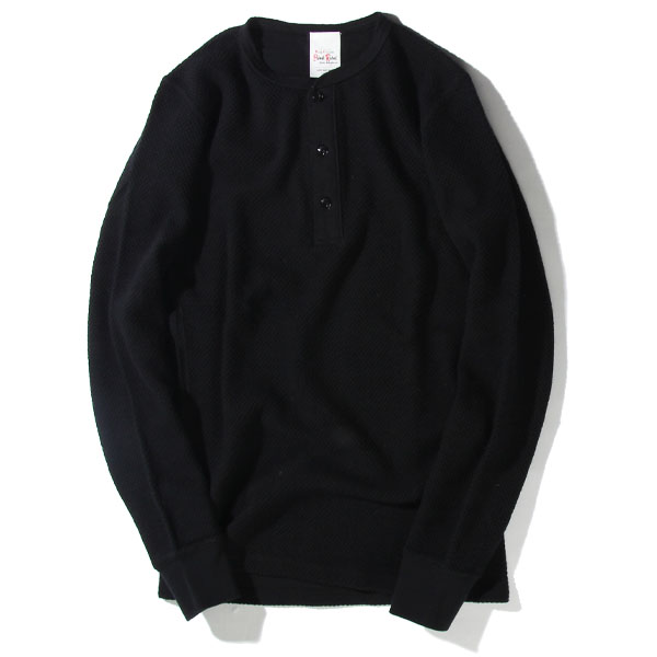 WAFFLE HENLEY NECK L/S