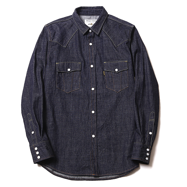 ROAD JACK DENIM SHIRT <ONE WASHED, RENEWAL>